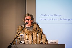 Charlotte Sahl-Madsen taler ved Baltic Development Forum i november 2010