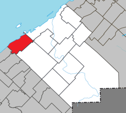 Location within Rimouski-Neigette RCM