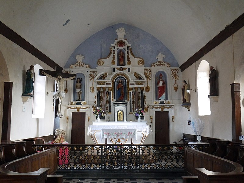 Le chœur de l'église Saint-Léger.
