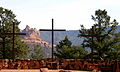 Saint John Vianney Parish (Sedona, Arizona), Calvary crosses and landscape.jpg