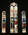 Saint Nicholas Catholic Church (Zanesville, Ohio) - stained glass, The Annunciation with Saints Matthew and Mark.jpg