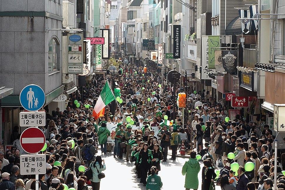 Saint Patricks Day in Motomachi Yokohama