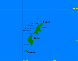 Aguigan island in the United States of America