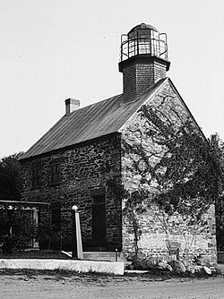 Salmon River Lighthouse, Lake Ontario, Port Ontario vicinity, (Oswego County, New York).jpg