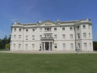 Saltram House - Saltram House, south (main entrance) front, with Parker arms in pediment