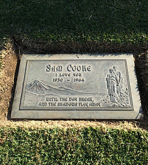 Sam Cooke - Grave of Sam Cooke, in the Garden of Honor, Forest Lawn Glendale
