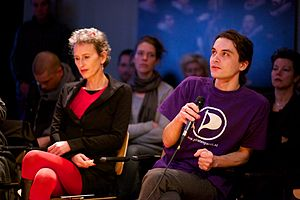 Samir Allioui debat Wikileaks at Waag Society