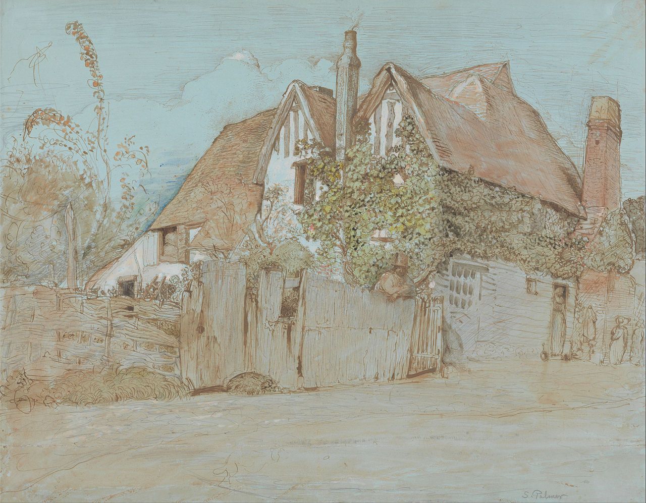 File Samuel Palmer Ivy Cottage Shoreham Google Art