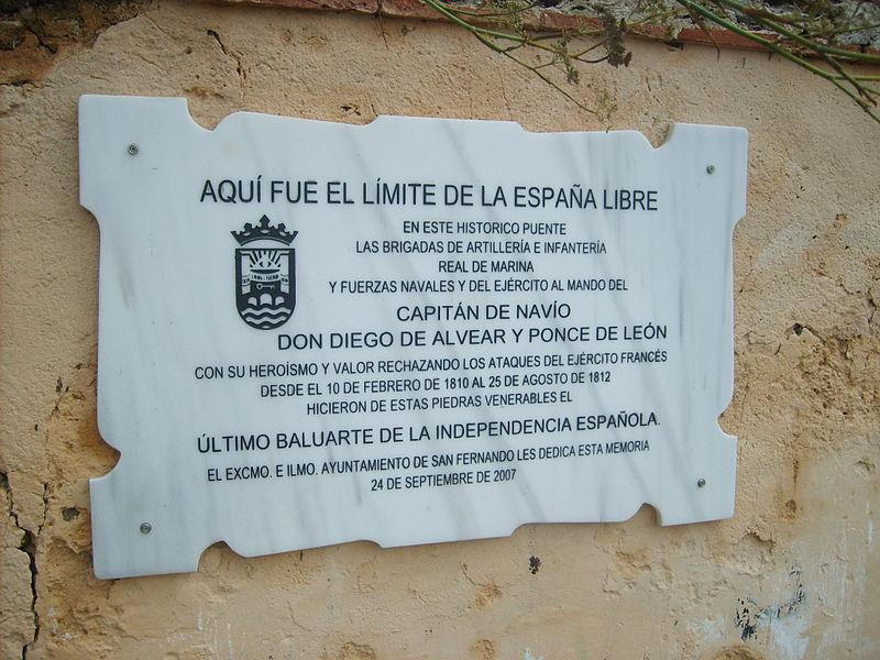Archivo:San Fernando - Límite de la España libre.JPG