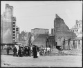 San Francisco Earthquake of 1906, An area in the vicinity of California and Mason Streets with the Fairmont Hotel in... - NARA - 531067.tif