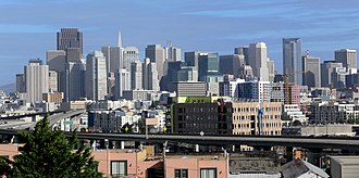 Potrero Hill - Potrero Hill offers striking views of the San Francisco skyline.