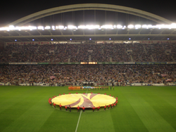 San Mamés during a UEFA match