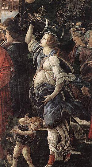 Temptations of Christ (Botticelli) - Detail of the fresco
