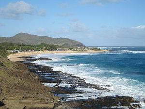 Sandy Beach, Hawaii - Image: Sandybeach blowholeside