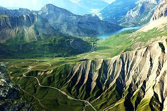 Sanetsch Pass - Aerial view of the pass