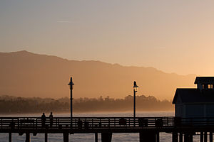Sunrise on the Stearns Wharf, Santa Barbara, C...