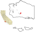 Santa Barbara County California Incorporated and Unincorporated areas Santa Ynez Highlighted.svg