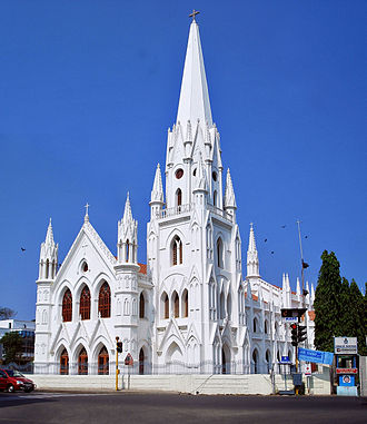 Christianity in Tamil Nadu - San Thome Basilica, Chennai is built over the site where St.Thomas is believed to be originally interred