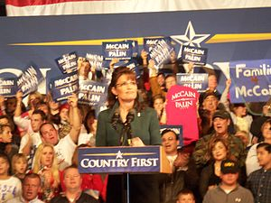 Canton McKinley High School - Image: Sarah Palin Mc Kinley High