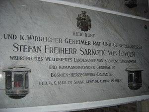 Stjepan Sarkotić - Sarkotić's tomb in Vienna
