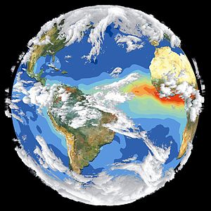 Planetary boundaries - Image: Satellite Image of Earth's Interrelated Systems and Climate GPN 2002 000121