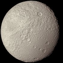 Saturn's Moon Tethys as seen from Voyager 2.jpg