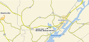 Sauta Cave National Wildlife Refuge - Map of Sauta Cave NWR