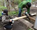 Sawing a board to length for boardwalk in GT.jpg