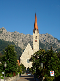 Skyline of Schaan