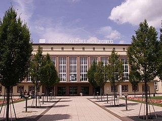 Merseburg Hauptbahnhof railway station in Merseburg, Germany