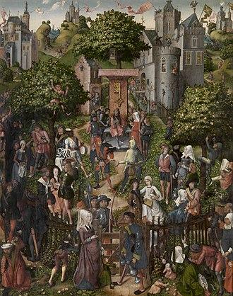 Schützenfest - Master of Frankfurt, Festival of the Archers, 1493. Royal Museum of Fine Arts, Antwerp.