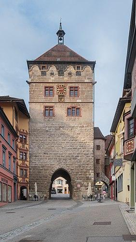 Schwarzes Tor in Rottweil, Baden-Württemberg, Germany