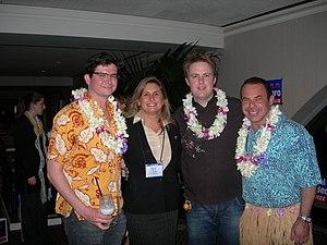 Don Korotsky Norte - Image: Scott Schmidt, Heather Peters, Charles Moran & Kevin Norte at the Log Cabin Republicans 2007 Luau