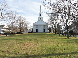 New England town - A typical New England town green (Douglas, Massachusetts)