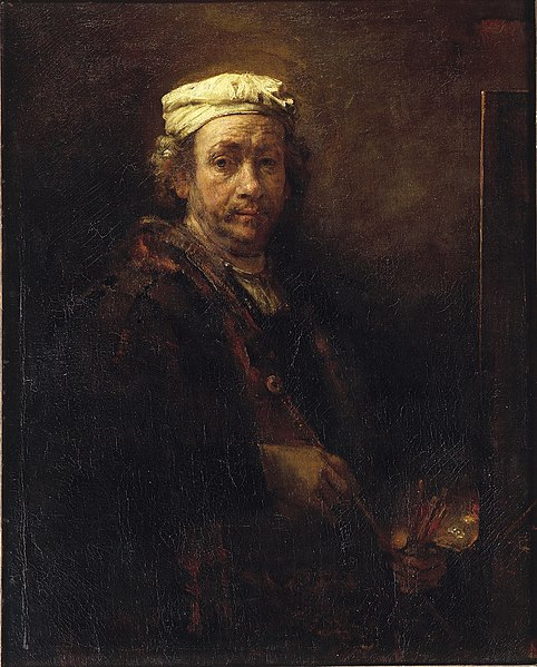 File:Self portrait at the easel, Rembrandt van Rijn, 1660, Louvre, Paris.jpg