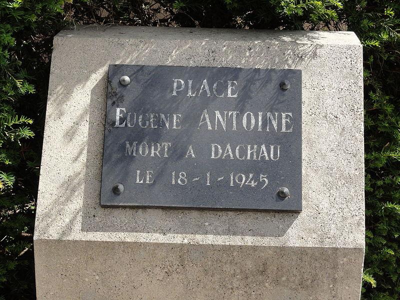 Senon (Meuse) plaque Place Eugène Antoine (mémorial Dachau)