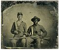Sergeant A.M. Chandler and Silas Chandler (family slave).jpg