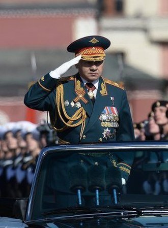 Sergey Shoygu - General Shoigu inspecting a Moscow Victory Day Parade. 9 May 2014