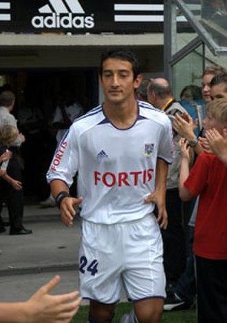 Serhat Akın - Akın in action for Anderlecht.