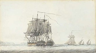 Action of 10 August 1780 - Image: Serres dominic the action between hmsflora