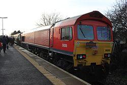Severn Beach - DBS 59205 with railtour.JPG