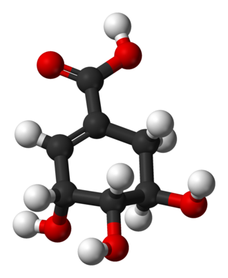 Shikimic acid - Image: Shikimic acid 3D balls