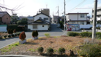 Shinden Station (Kyoto) - Town in front of the station (from the station building)