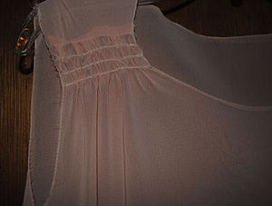 Shirring - Image: Shirring Fabric in Garment Construction