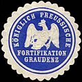 Siegelmarke K.Pr. Fortifikation Graudenz W0283693.jpg