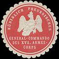 Siegelmarke K.Pr. General-Commando des XVI. Armeecorps W0386220.jpg