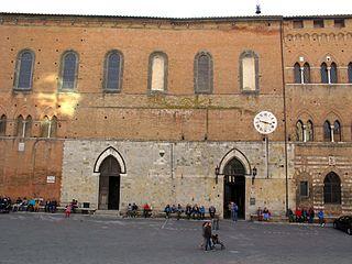 Fresques de la façade de Santa Maria della Scala