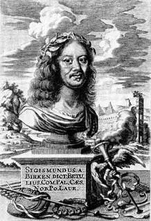 Sigmund von Birken - Portrait of Sigmund von Birken, engraving by Jacob von Sandrart