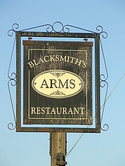 Sign For The Blacksmiths Arms - geograph.org.uk - 1333862
