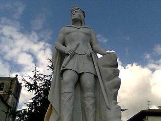 Silo of Asturias - Statue of King Silo in Pravia, Asturias.